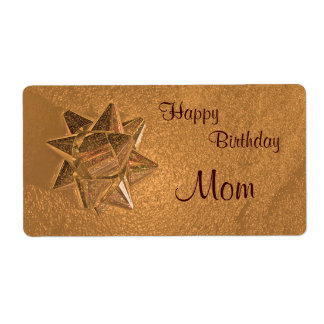Happy Birthday Mom Gift Tag Shipping Label