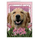 Happy Birthday Mom - Golden Retriever - Mickey Card