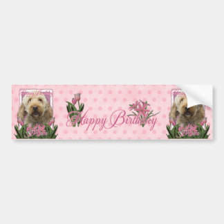 Happy Birthday Mom - Goldendoodle Bumper Stickers