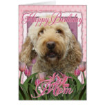 Happy Birthday Mom - Goldendoodle Greeting Card