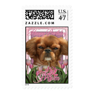 Happy Birthday Mom - King Charles Cavalier - Ruby Postage