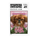 Happy Birthday Mom - King Charles Cavalier - Ruby Postage Stamps
