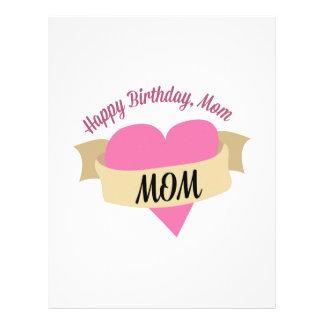 Happy Birthday Mom Letterhead