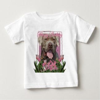 Happy Birthday Mom - Mastiff Neopolitan - Snoop Baby T-Shirt