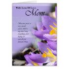 Happy Birthday Mom, Mom card with crocus