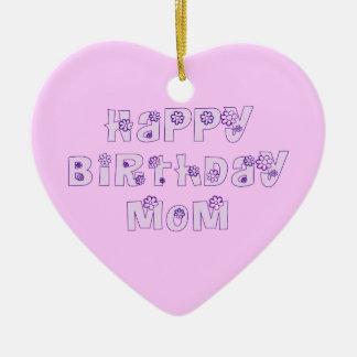 Happy Birthday Mom Ornament Pink