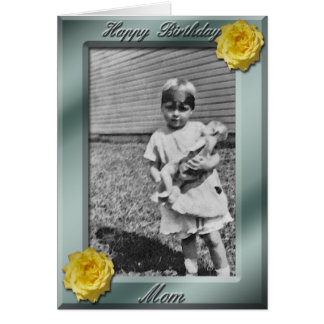 Happy Birthday Mom Photo Card template