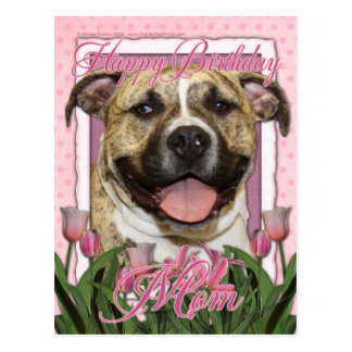 Happy Birthday Mom - Pitbull - Tigger Postcard