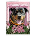 Happy Birthday Mom - Rottweiler - SambaParTi Cards
