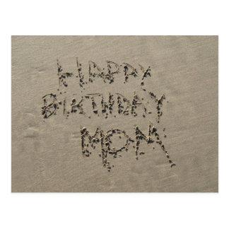 Happy Birthday Mom sandwriting Postcard