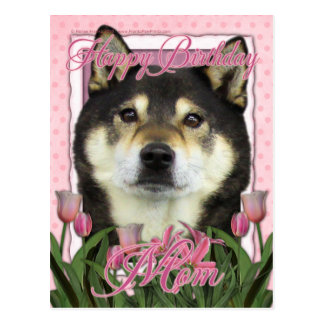 Happy Birthday Mom - Shiba Inus - Yasha Postcard