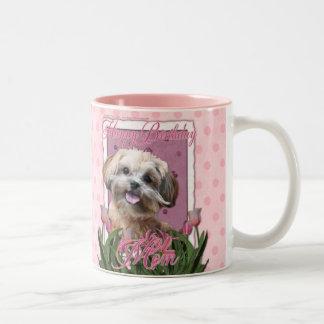 Happy Birthday Mom - ShihPoo - Maggie Two-Tone Coffee Mug