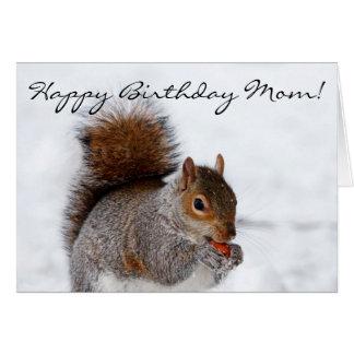 Happy Birthday Mom Squirrel Greeting card