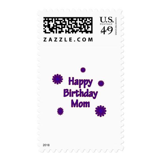 Happy Birthday Mom Stamp