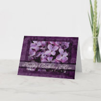 Happy Birthday Mom Textured Lilacs Card