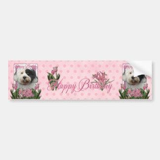 Happy Birthday Mom - Tibetan Terrier Bumper Sticker
