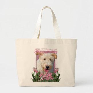 Happy Birthday Mom -  Wire Fox Terrier - Hailey Jumbo Tote Bag