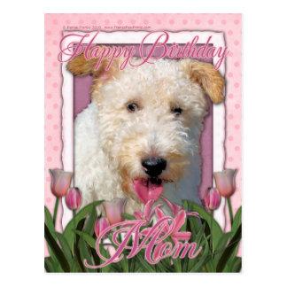 Happy Birthday Mom -  Wire Fox Terrier - Hailey Postcard
