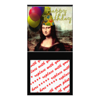 Happy Birthday Mona Lisa Card