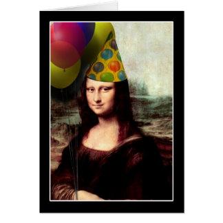 Happy Birthday Mona Lisa Greeting Card