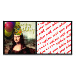 Happy Birthday Mona Lisa Photo Card Template