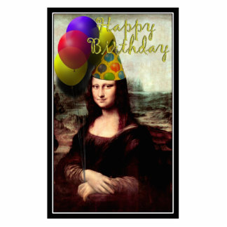 Happy Birthday Mona Lisa Statuette