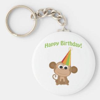 Happy Birthday! Monkey Keychain