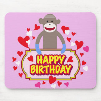 Happy Birthday Monkey. Mouse Pad
