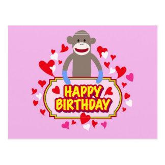 Happy Birthday Monkey. Postcard