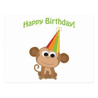 Happy Birthday Monkey Postcard