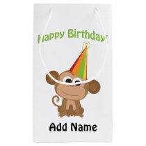 Happy Birthday Monkey Small Gift Bag