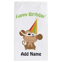 Happy Birthday Monkey Small Gift Bag