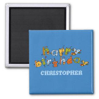 Happy Birthday Monsters Magnet