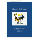 Happy Birthday Mother Butterflies Greeting Card