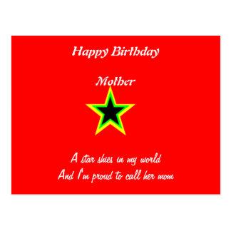 happy birthday mother cards postcard