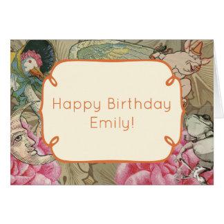 Happy Birthday Mother Goose Custom Template Card