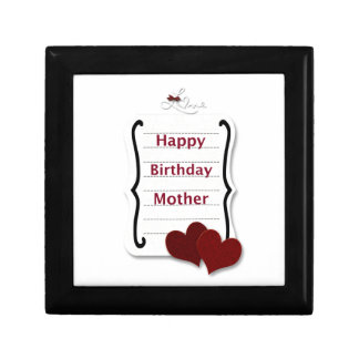 Happy Birthday Mother Love Notes Cards and Gifts Keepsake Box