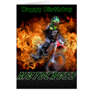 Happy Birthday Motocross card