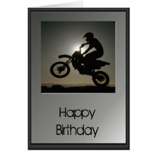 Happy Birthday - Motocross Card