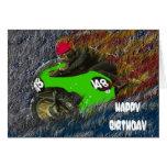 HAPPY BIRTHDAY MOTORCYCLE MOTOR BIKE GREETING CARD