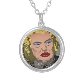 Happy Birthday Mr. President Silver Plated Necklace