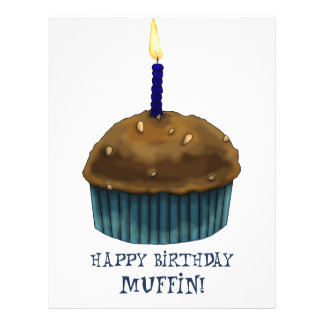 "Happy Birthday Muffin 8.5"" X 11"" Flyer"