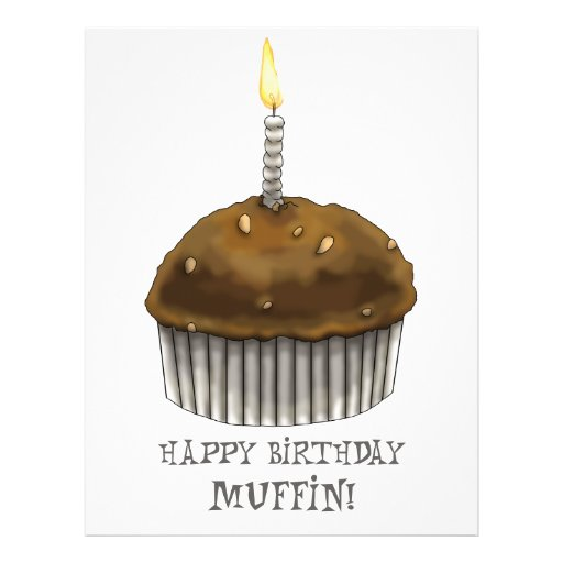 Happy Birthday Muffin Full Color Flyer