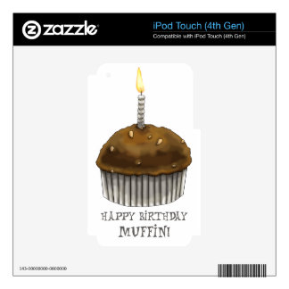 Happy Birthday Muffin iPod Touch 4G Skins