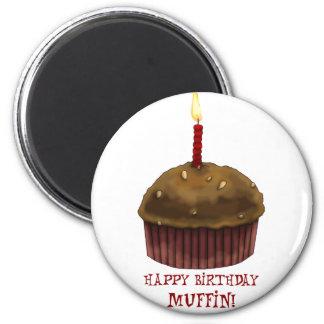 Happy Birthday Muffin Fridge Magnets
