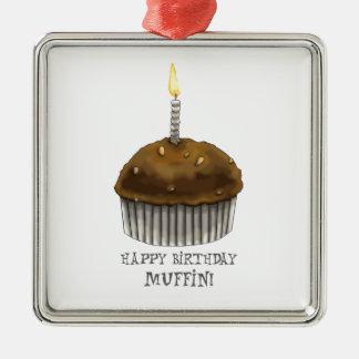 Happy Birthday Muffin Christmas Ornaments