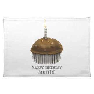 Happy Birthday Muffin Placemat