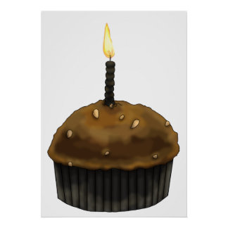 Happy Birthday Muffin Poster