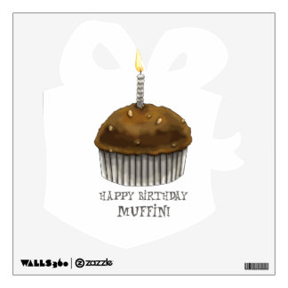 Happy Birthday Muffin Wall Sticker