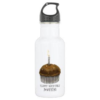 Happy Birthday Muffin Water Bottle